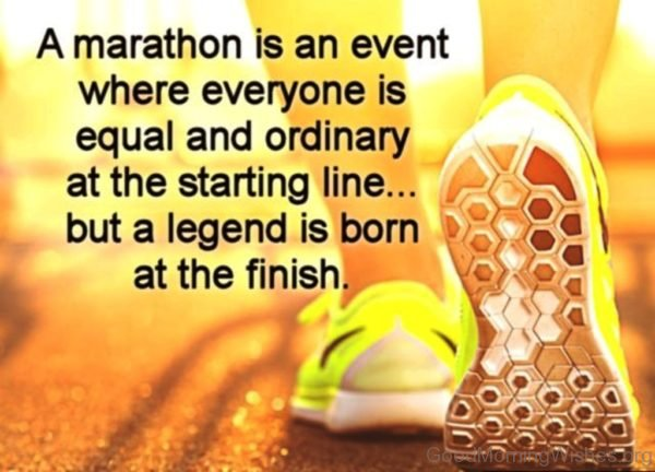 A Marathon Is An Event