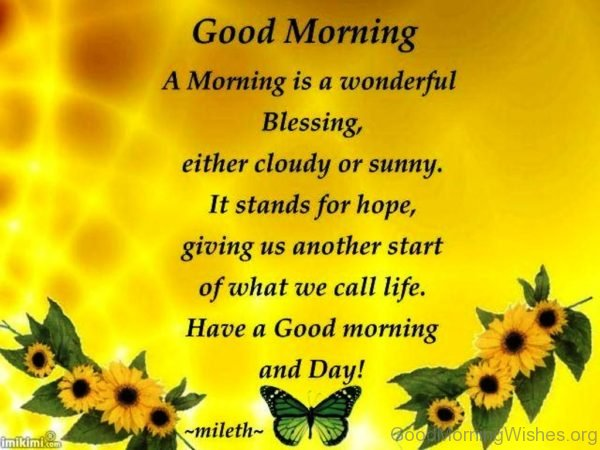 A Morning Is A Wonderful Blessing 1