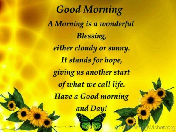 A Morning Is A Wonderful Blessing 3