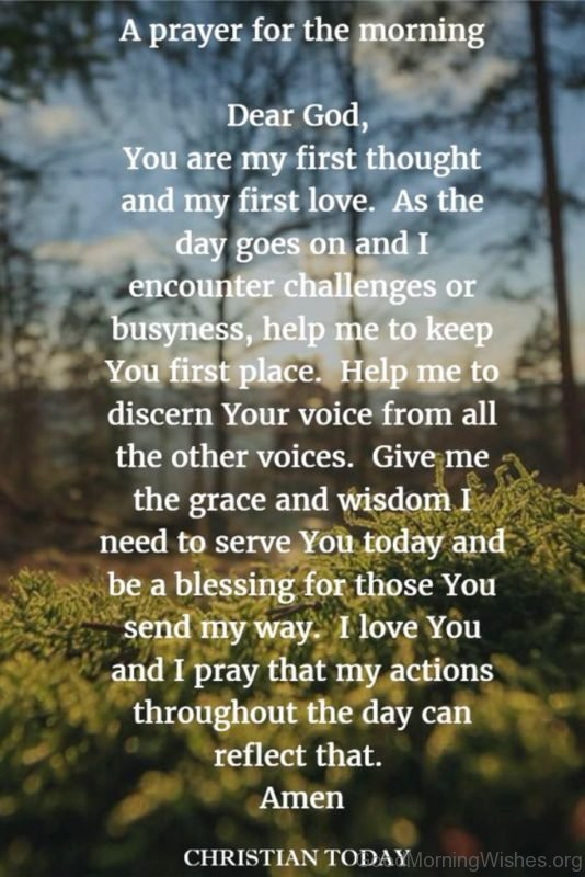 A Prayer For The Morning