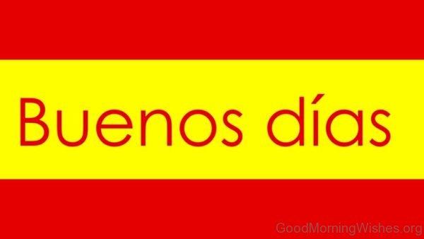 Amazing Good Morning In Spanish