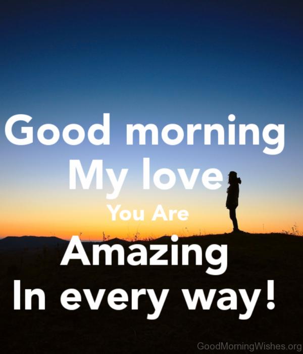 Amazing Photo Of Good Morning