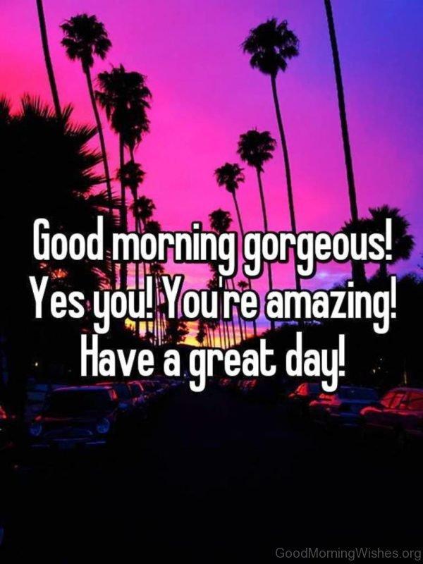 Amazing Pic Of Good Morning