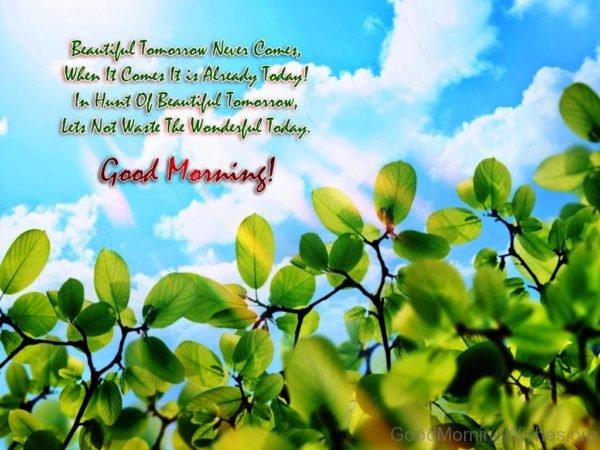 Beautiful Tomorrow Never Comes