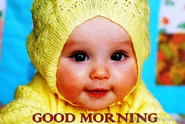 Cute Baby Good Morning Image