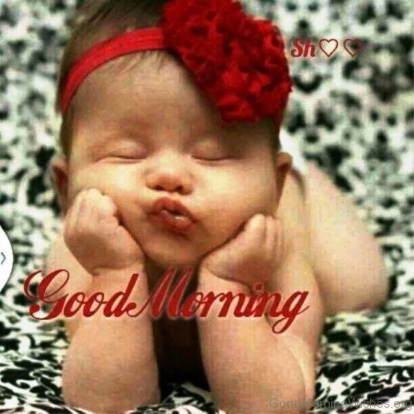 Cute Baby Good Morning Pic