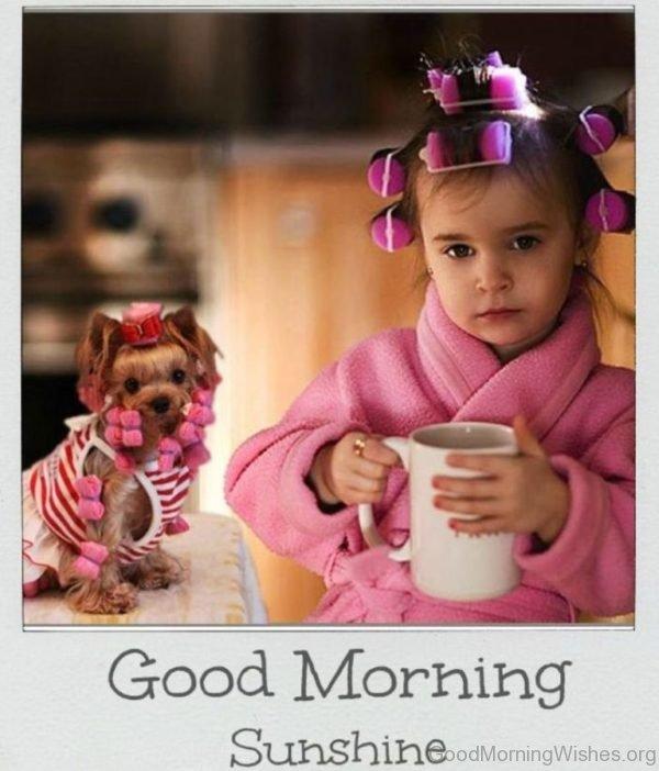 Cute Pic Of Good Morning Sunshine