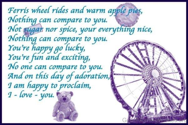 Ferris Wheel Rides And Warm Apple Pies
