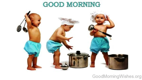Funny Baby Good Morning Pic