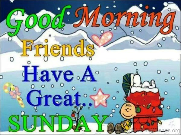 Good Morning Friends Have A Great Sunday