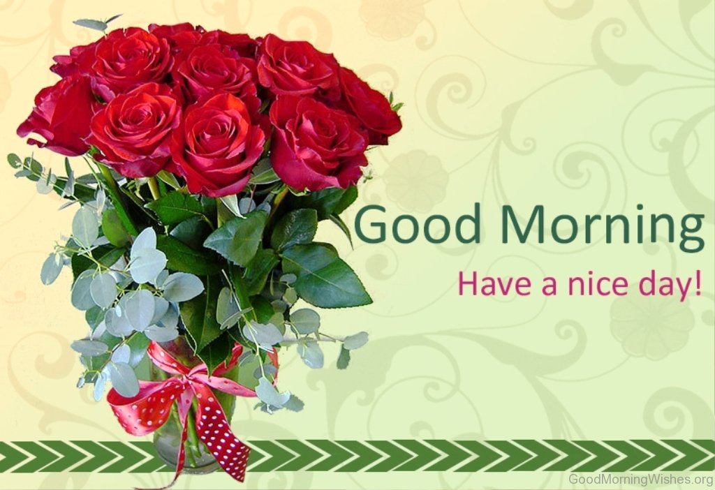 Good Morning Friends Have A Nice Day Images : Good morning wishes with rose