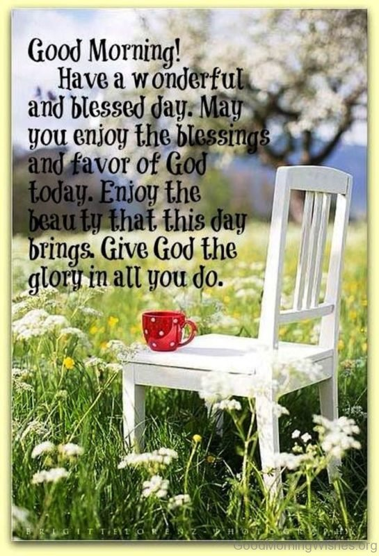 Good Morning Have A Wonderful And Blessed Day