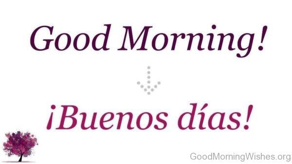 Good Morning In Spanish