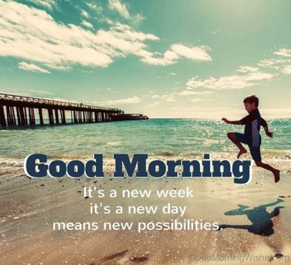 Good Morning Its A New Week Its A New Day