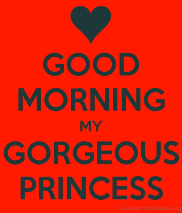 Good Morning My Gorgeous Princess