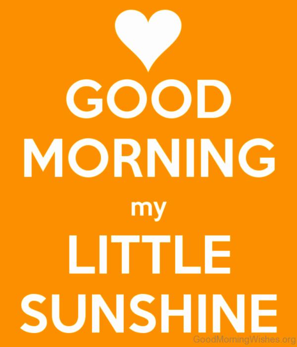 Good Morning My Little Sunshine
