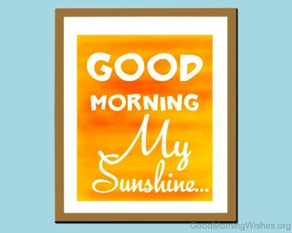 Good Morning My Sunshine 1