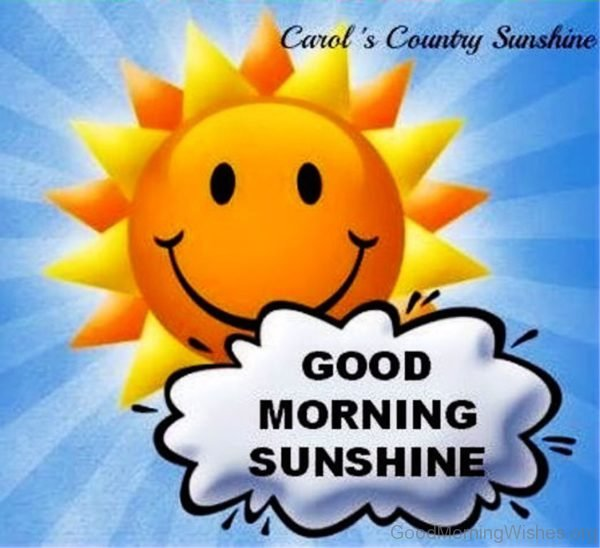 Good Morning Sunshine Pic