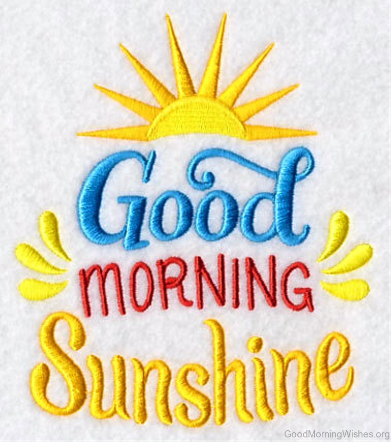 Good Morning Sunshine Tee : Good morning sunshine wishes