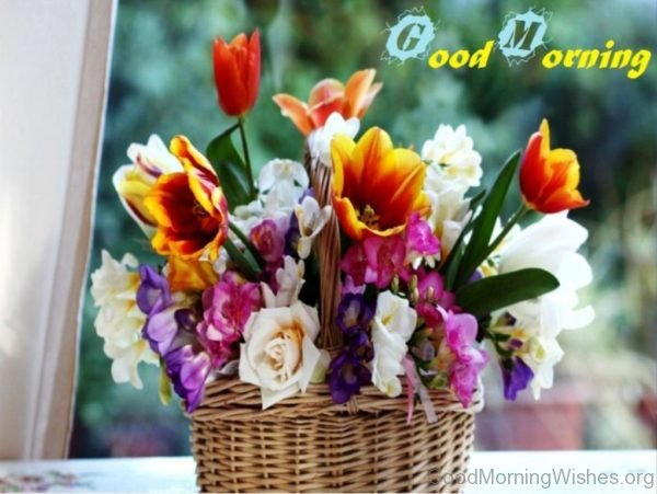 Good Morning With Beautiful Flowers 1