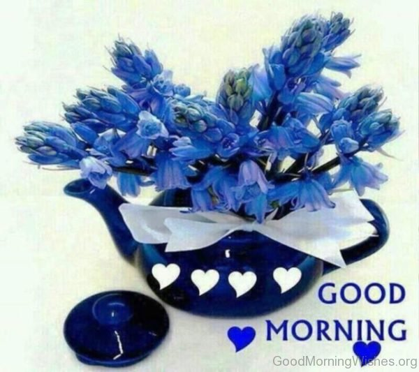 Good Morning With Blue Flowers 1