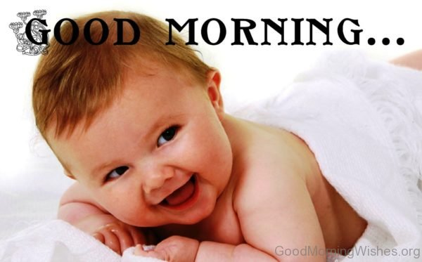 Good Morning With Cute Smile