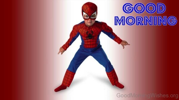Good Morning With Spiderman Baby