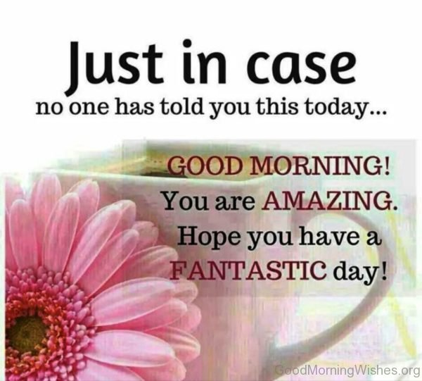 Good Morning You Are Amazing