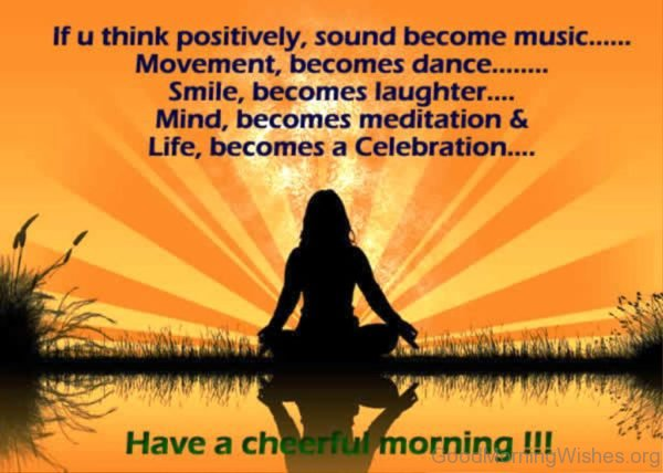 If U Think Positively Sound Become Music