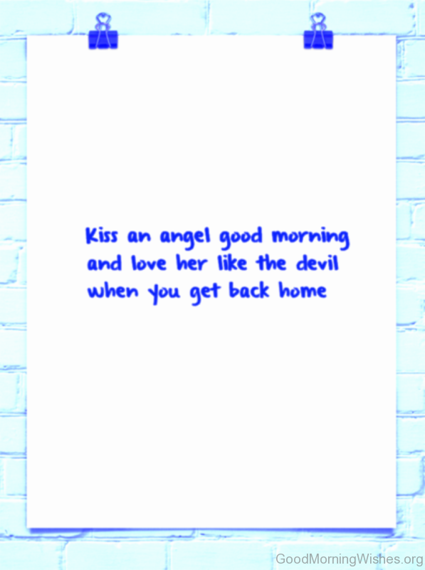 Kiss An Angel Good Morning Image