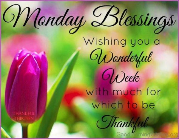 Monday Blessing Wishing You A Wonderful Week