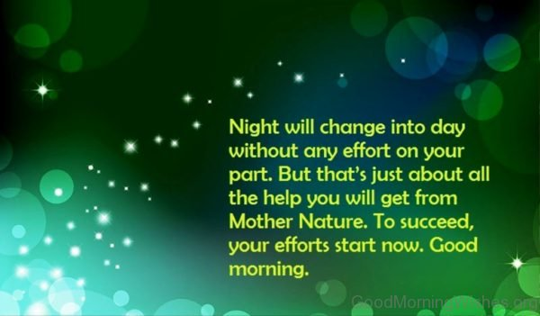 Night Will Channge Into Day