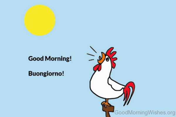 how to say in italian good morning