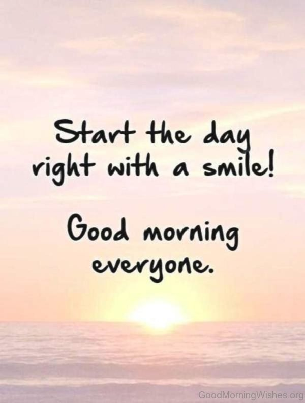 Start The Day Right With A Smile