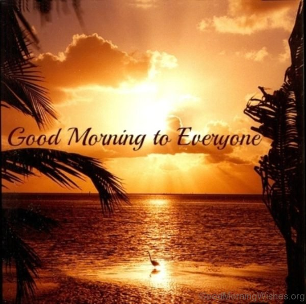 Stunning Good Morning Pic