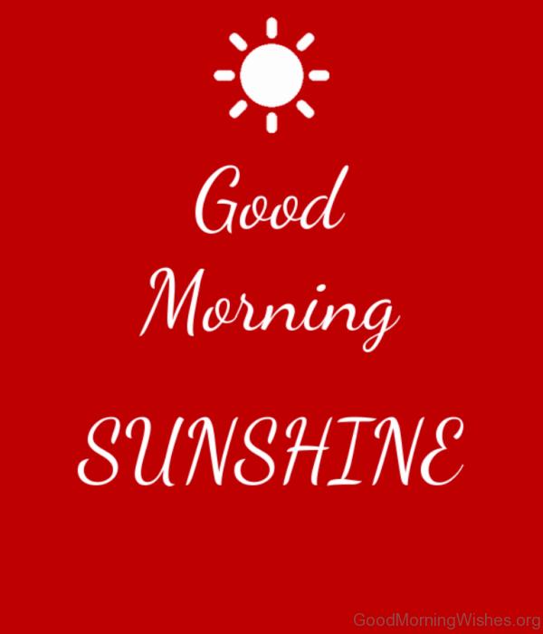 Stunning Image Of Good Morning
