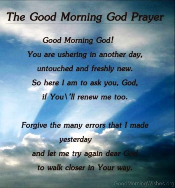 The Good Morning God Prayer