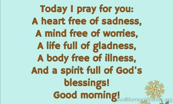 Today I Pray For You