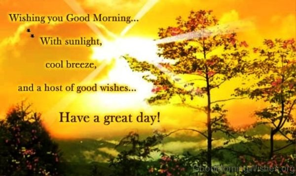 Wishing You Good Morning With Sunlight