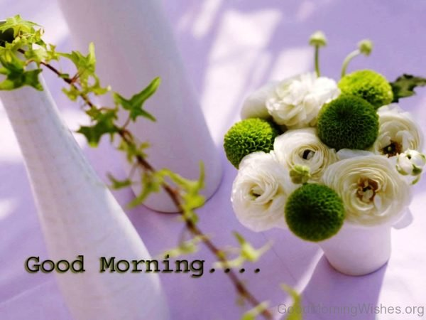 162 lovely good morning wishes with flowers wonderful white green flowers for morning greetings m4hsunfo