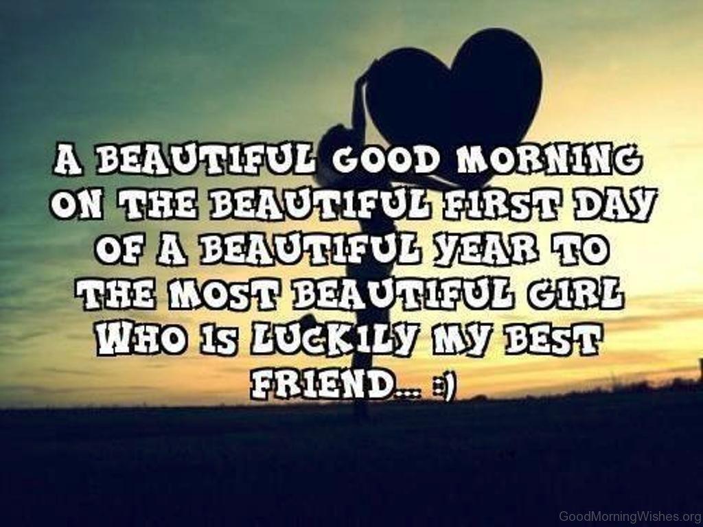 saying good morning beautiful to a girl