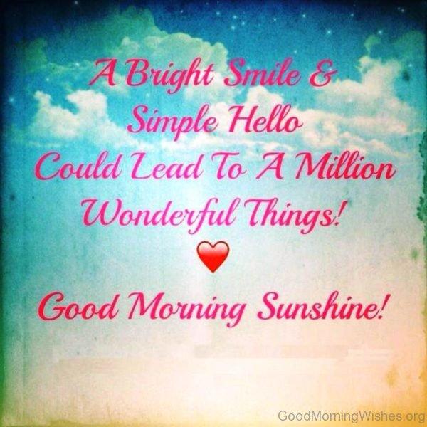 A Bright Smile Simple Hello