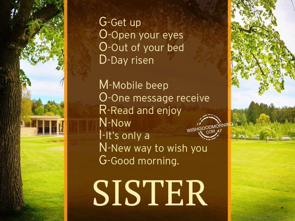 22 Good Morning Wishes For Sister