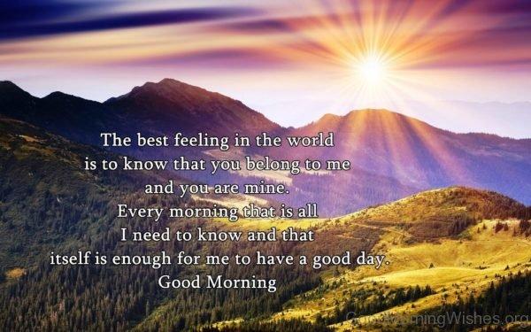Amazing Pic Of Good Morning Sunrise