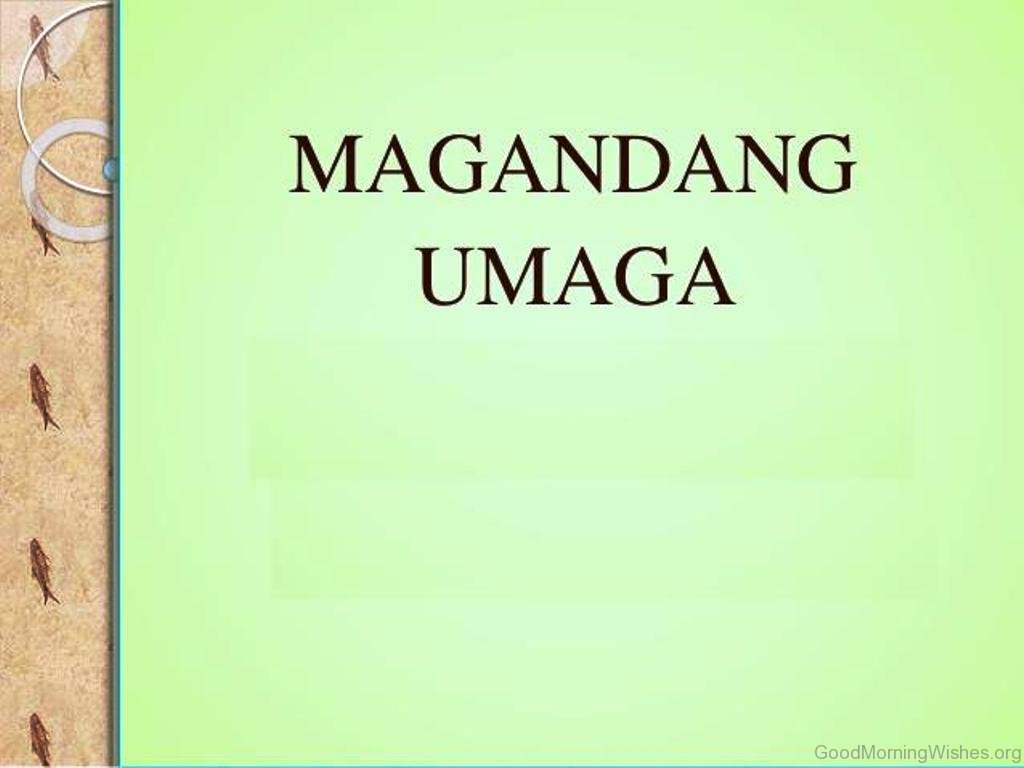 11 Good Morning Images In Tagalog