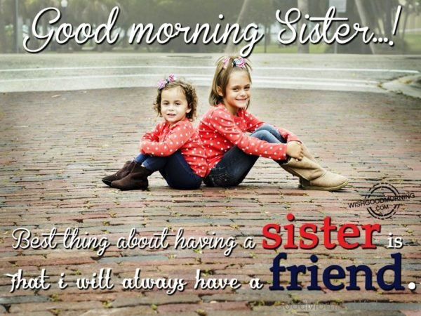 Best Thing About Having A Sister Is That I Will Always Have A Friend