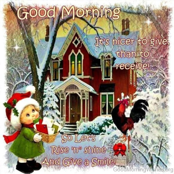Christmas Good Morning Picture