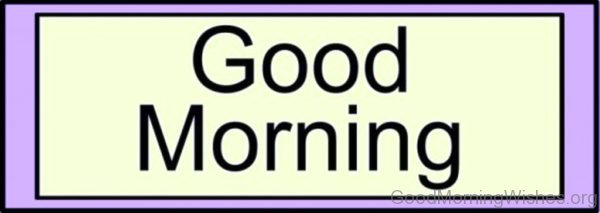 Clipart Good Morning