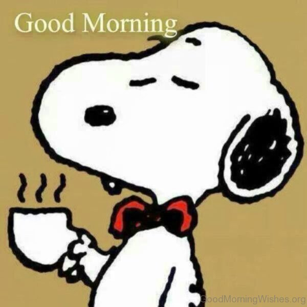 Cute Pic Of Good Morning Snoopy