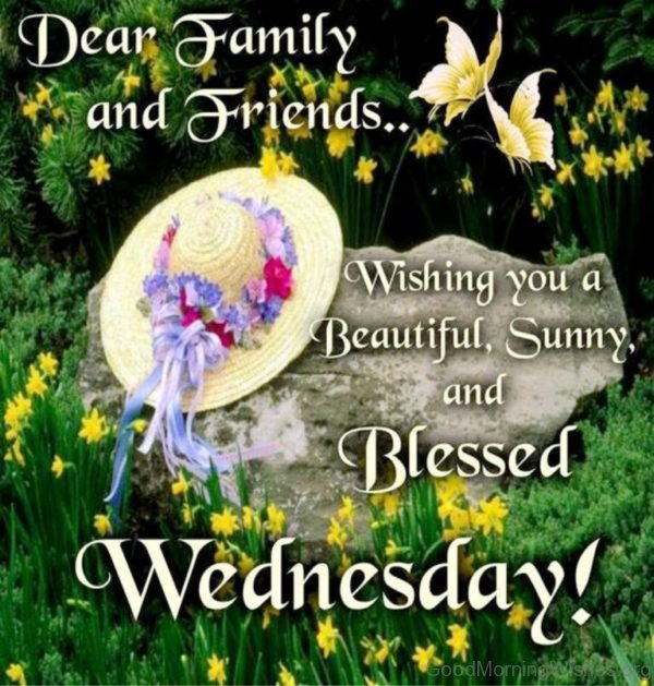 Dear Family And Friends Wishing You A Beautiful Sunny And Blessed Wednesday